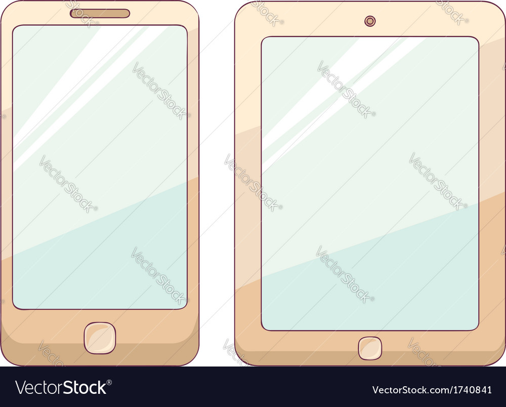 Tablet and phone vector | Price: 1 Credit (USD $1)
