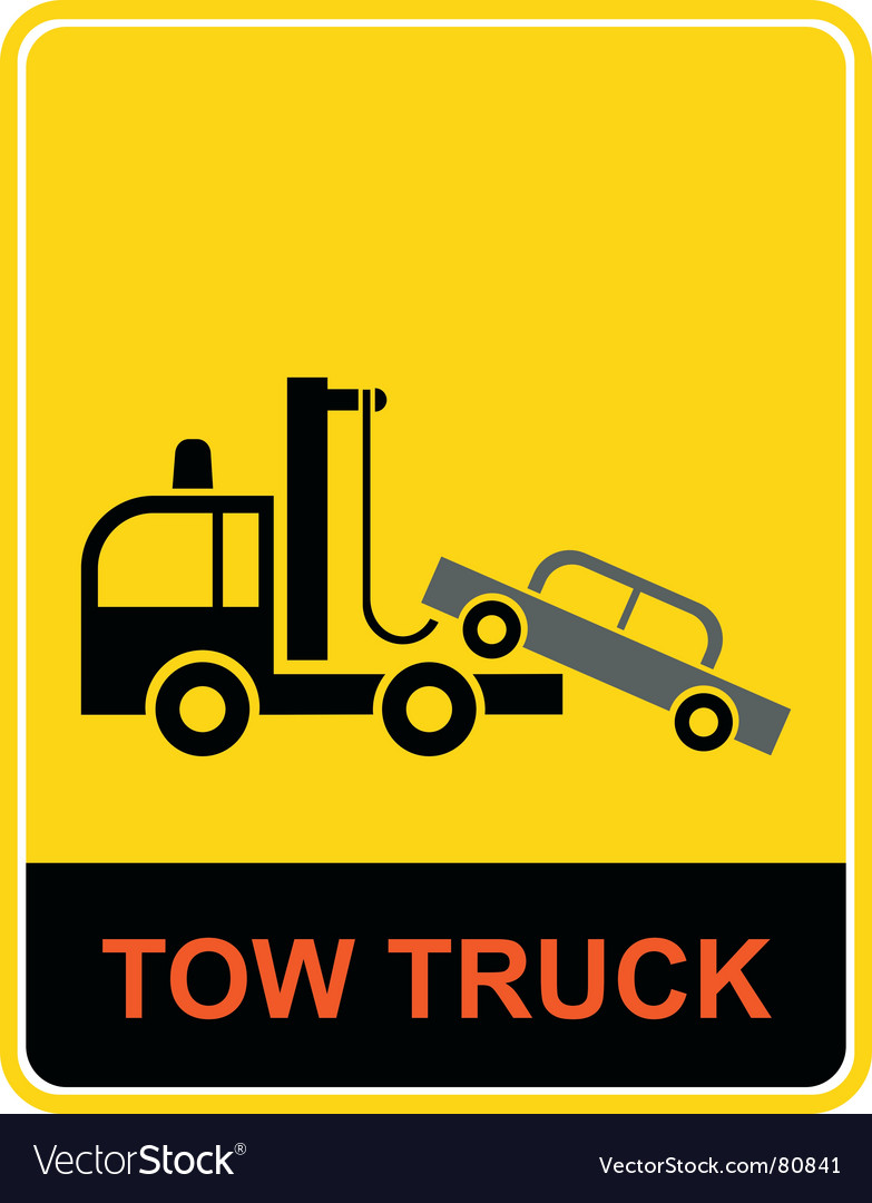 Tow truck sign vector | Price: 1 Credit (USD $1)