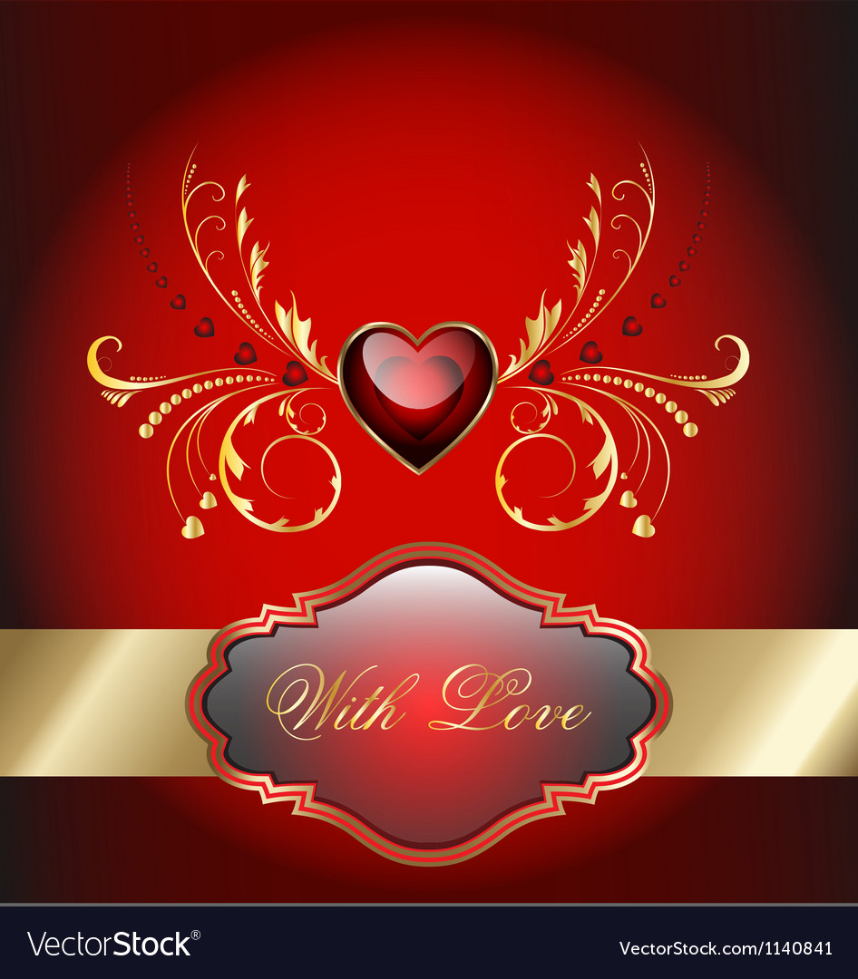 Valentine celebration card vector | Price: 1 Credit (USD $1)