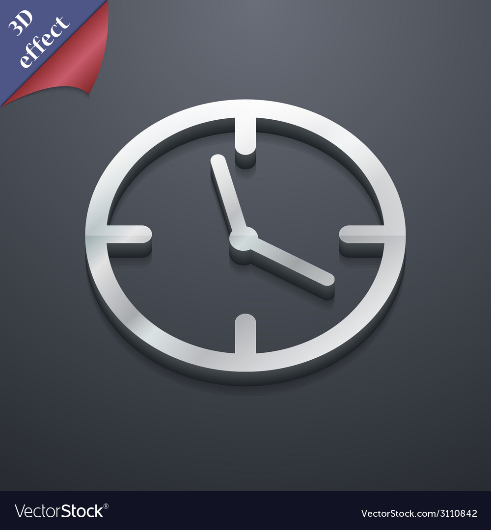 Alarm clock icon symbol 3d style trendy modern vector | Price: 1 Credit (USD $1)