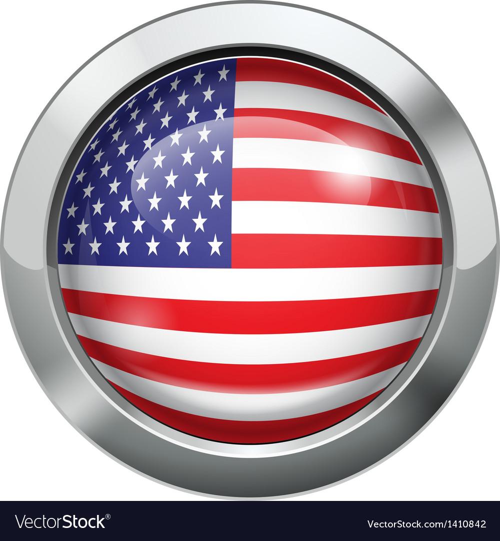 America flag metal button vector | Price: 1 Credit (USD $1)
