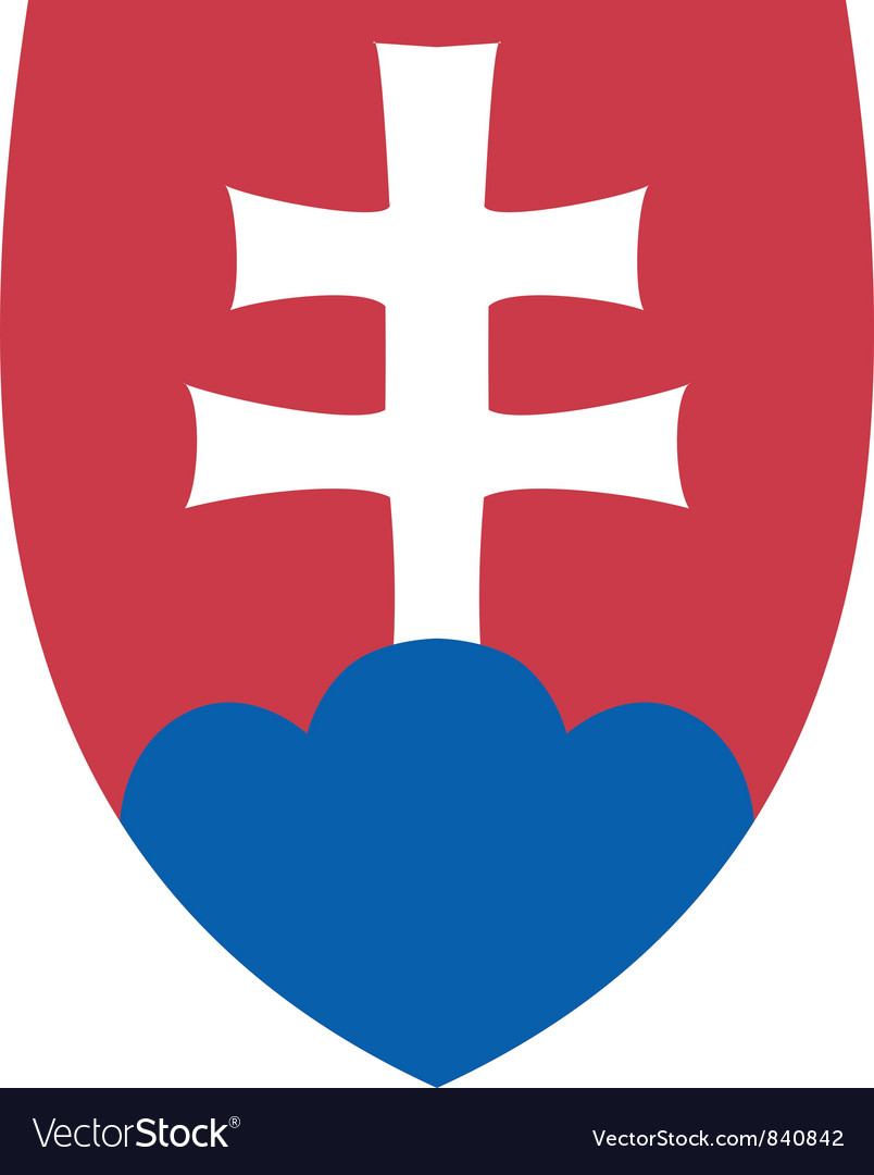 Coat of arms of slovakia vector | Price: 1 Credit (USD $1)
