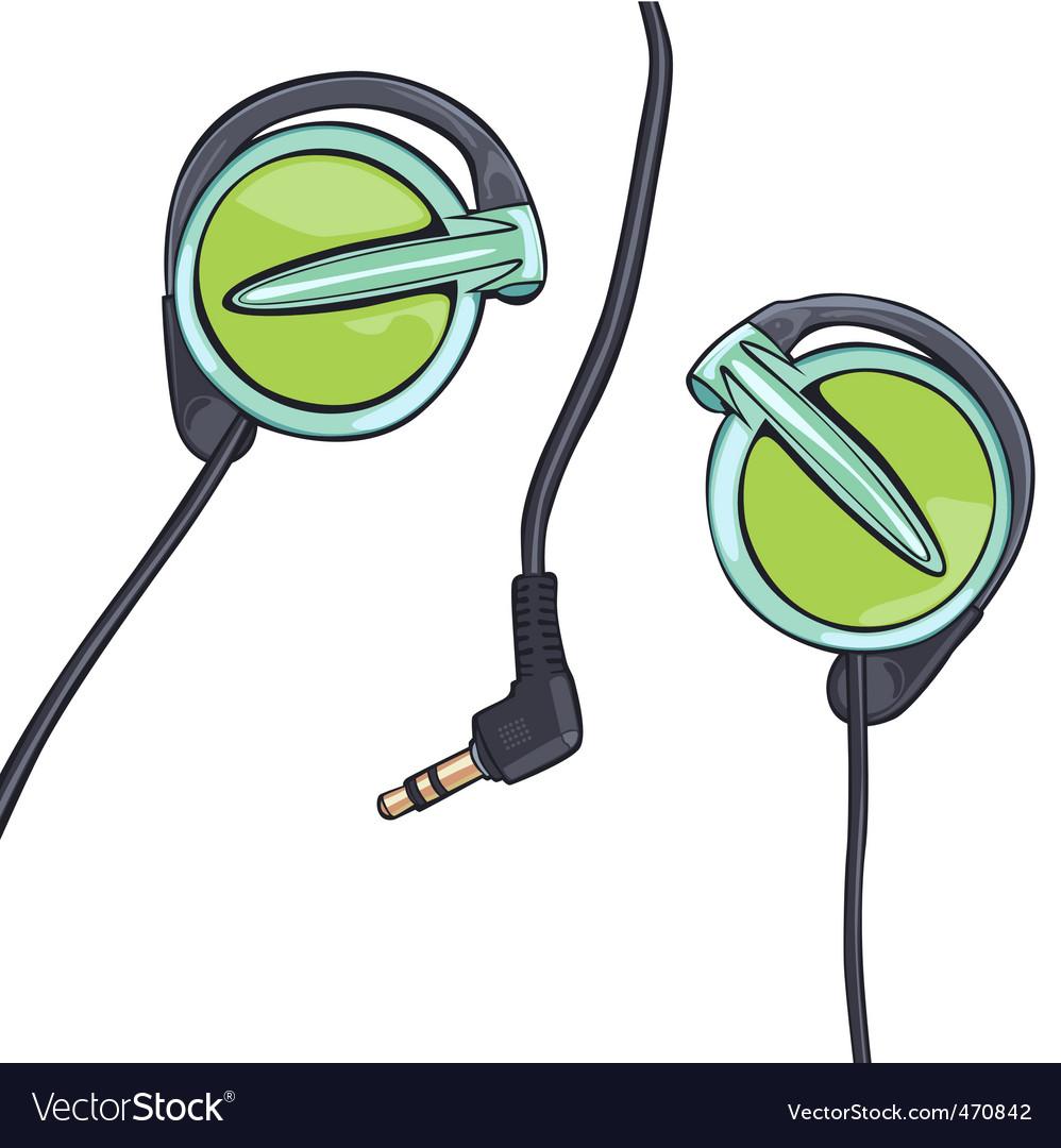 Earphones vector | Price: 1 Credit (USD $1)