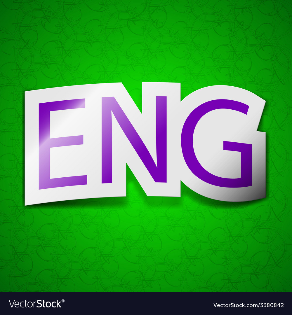 English icon sign symbol chic colored sticky label vector | Price: 1 Credit (USD $1)