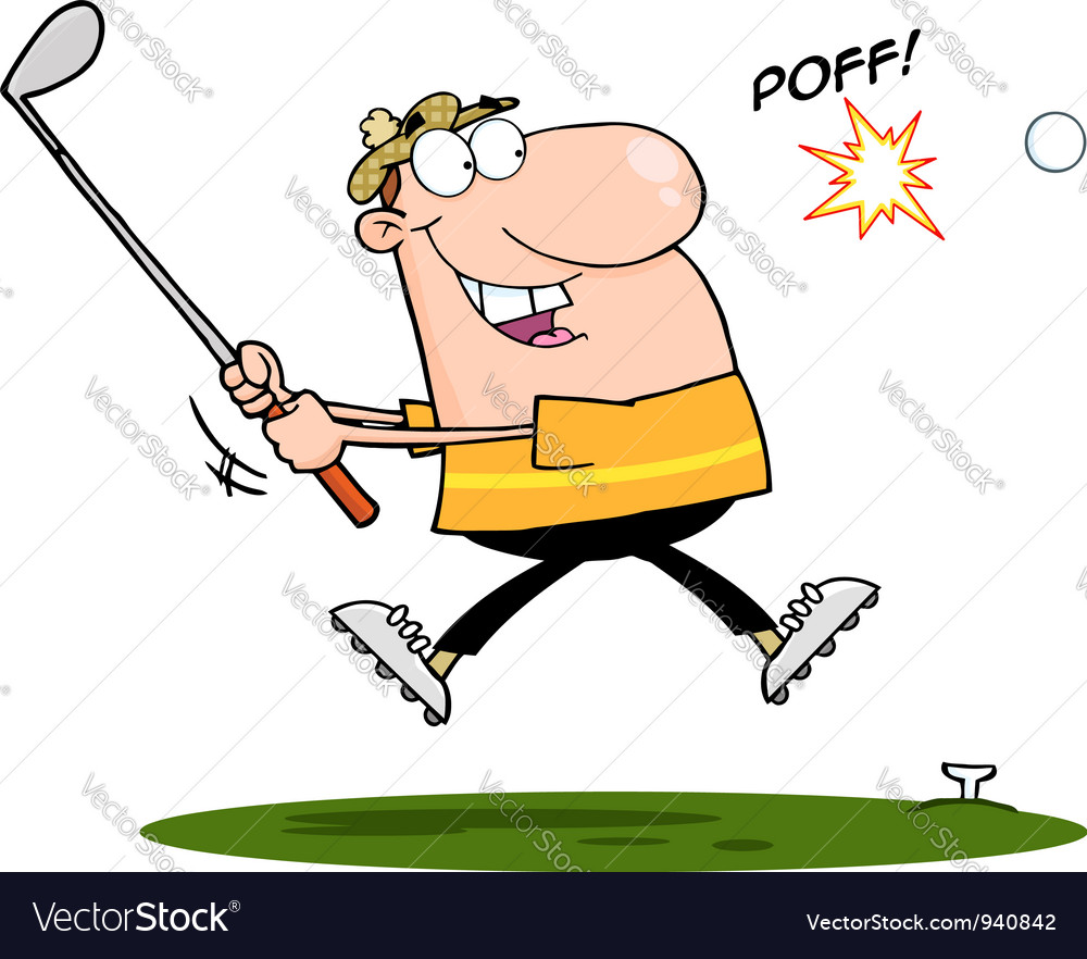Happy golfer vector | Price: 3 Credit (USD $3)