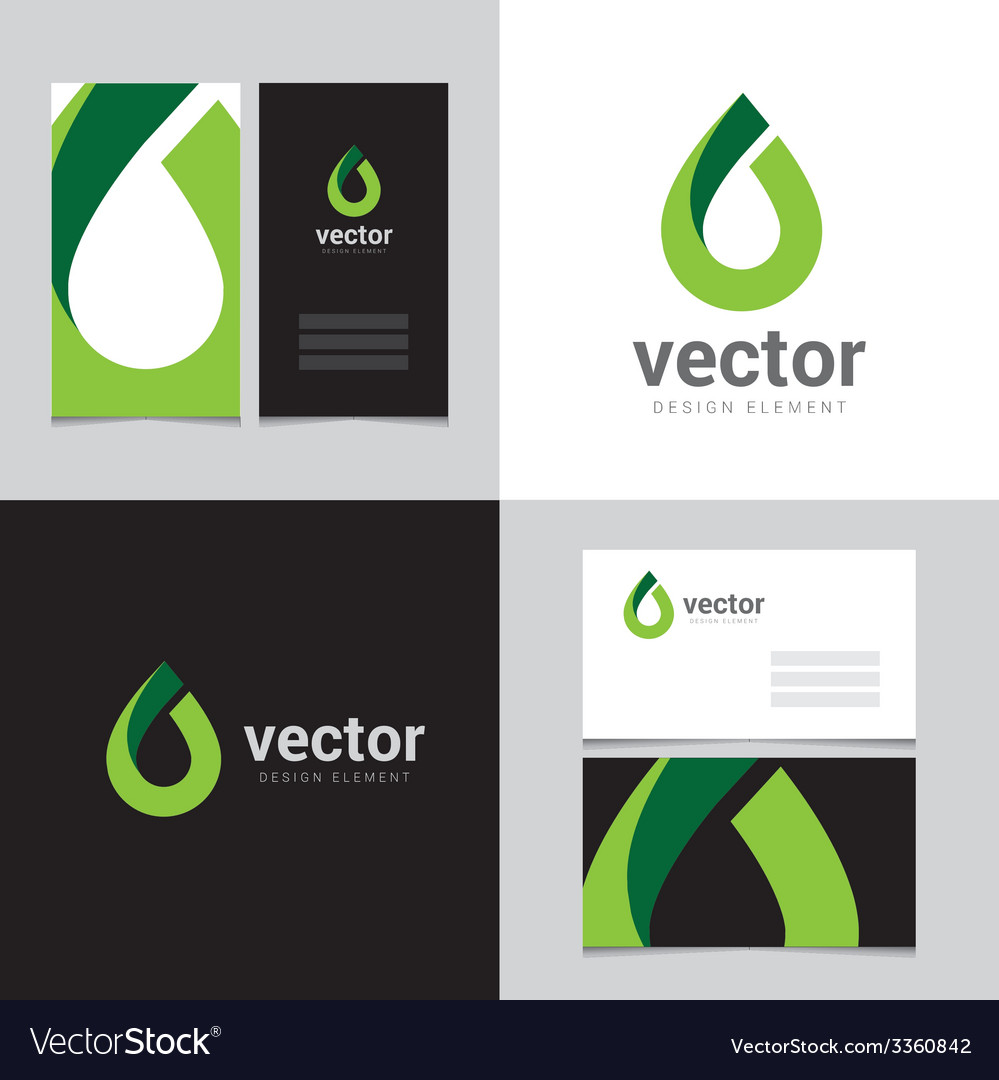 Logo design element with two business cards - 13 vector | Price: 1 Credit (USD $1)