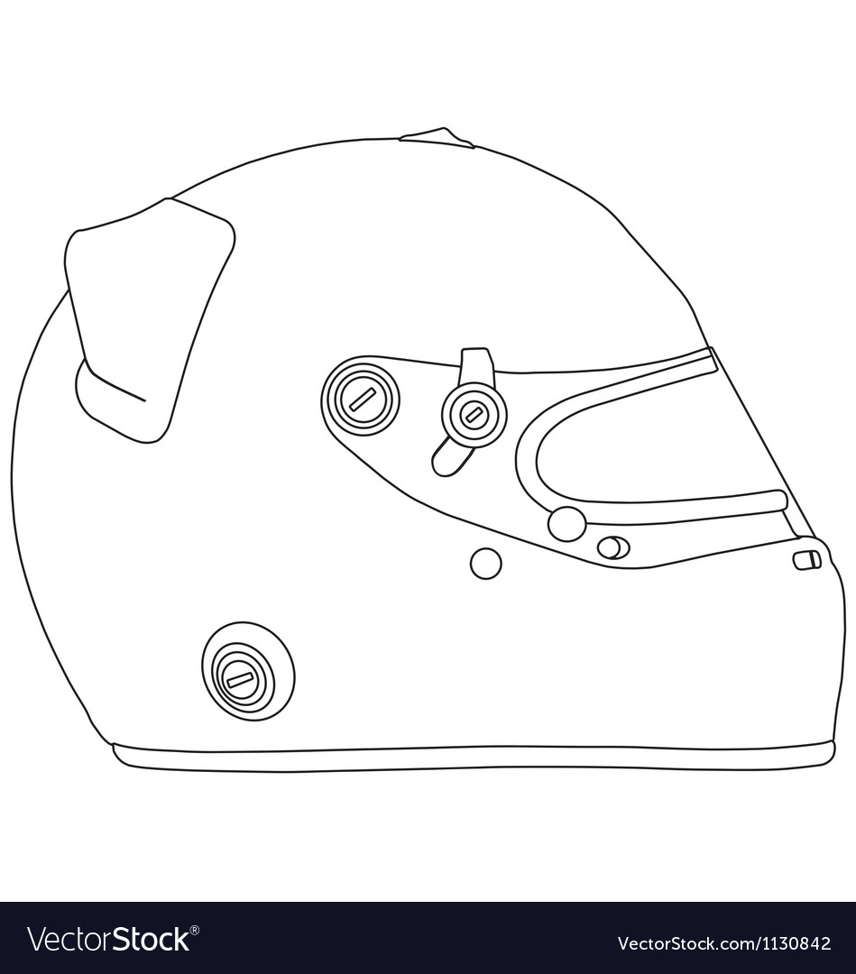 Motor racing helmet vector | Price: 1 Credit (USD $1)