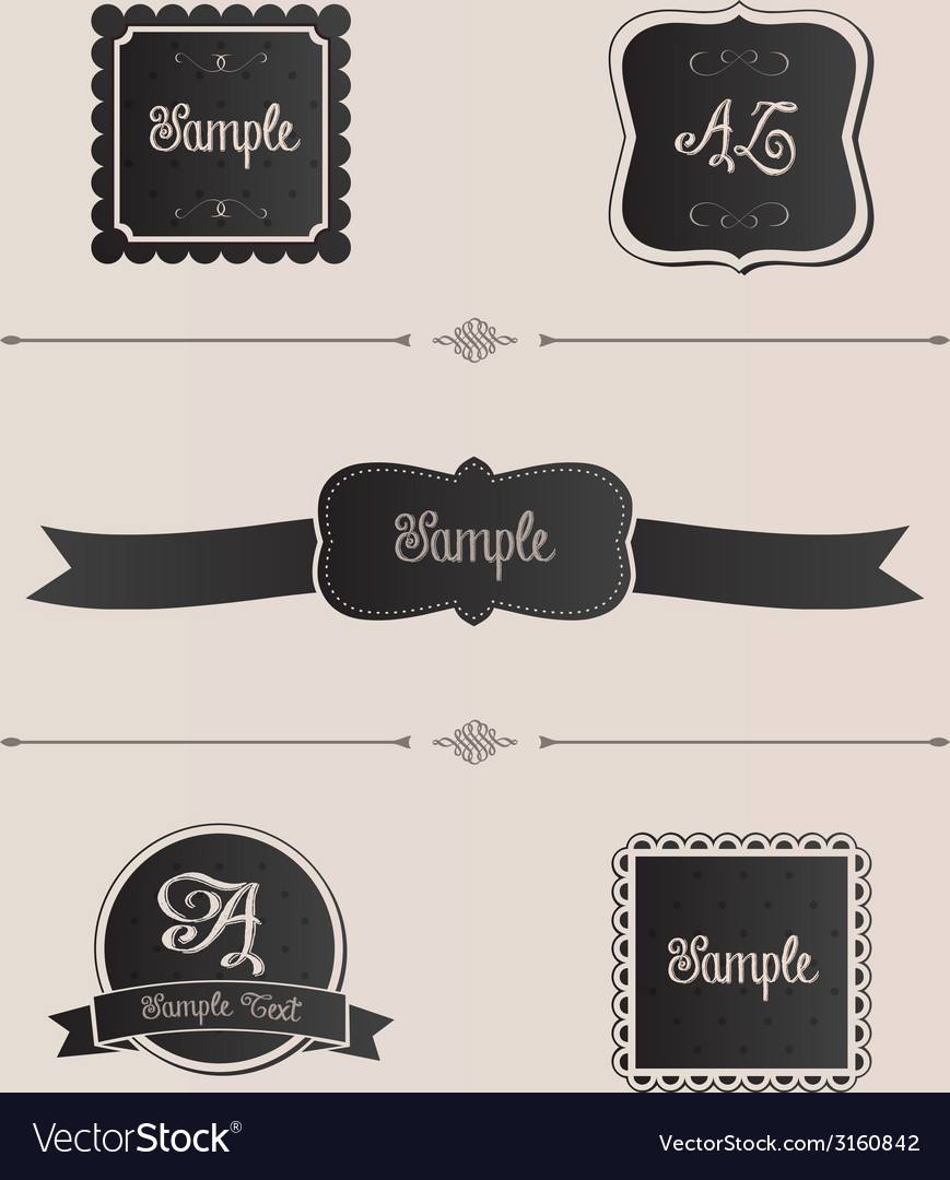 Pretty design elements vector | Price: 1 Credit (USD $1)