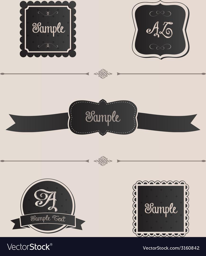 Pretty design elements vector | Price: 1 Credit (USD $1)