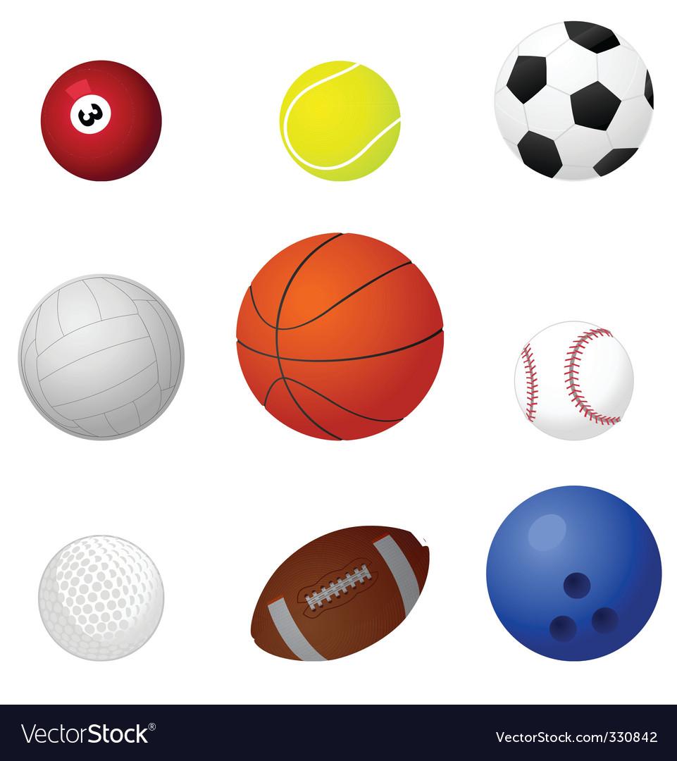 Sports balls2 vector