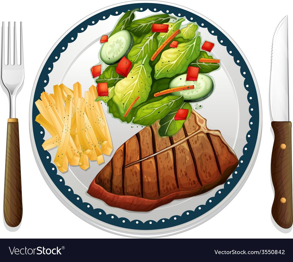 Steak vector | Price: 1 Credit (USD $1)