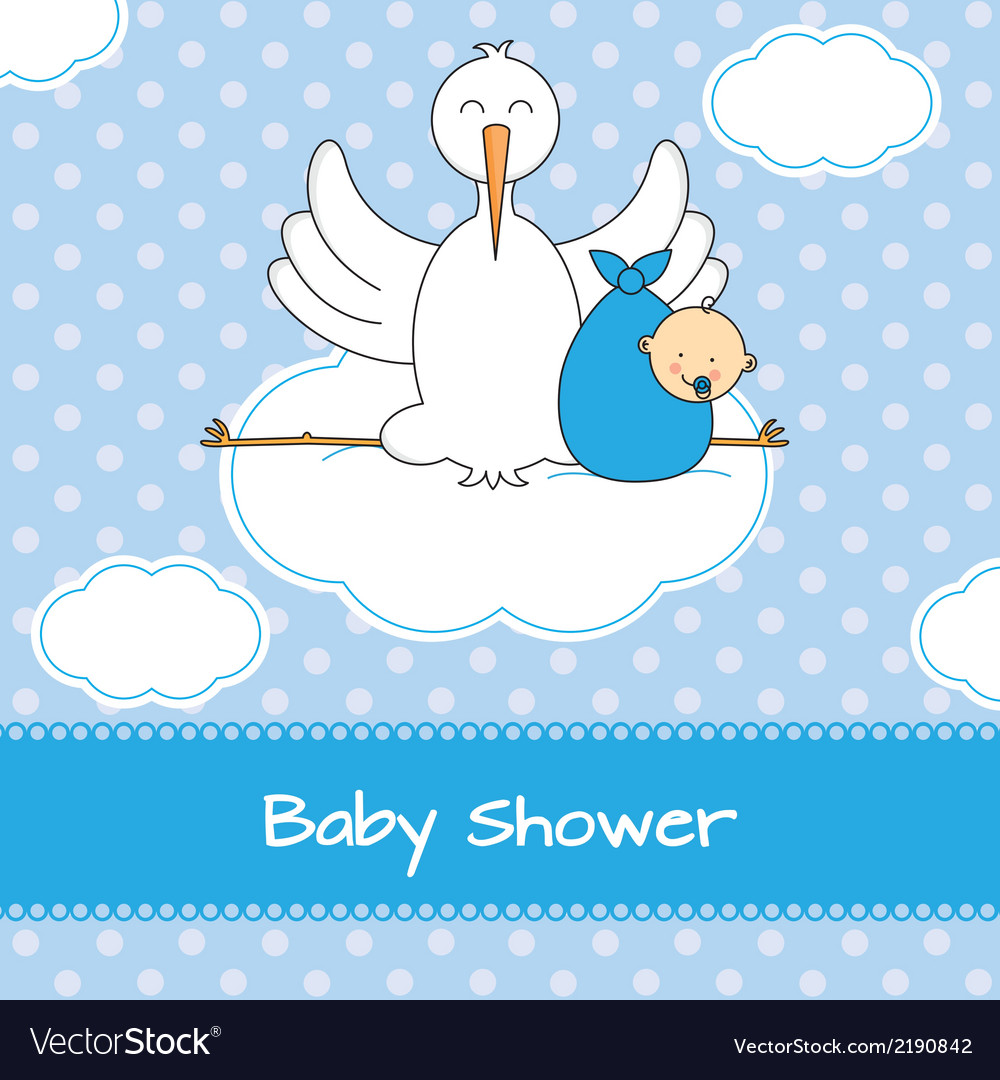 Stork with baby vector | Price: 1 Credit (USD $1)