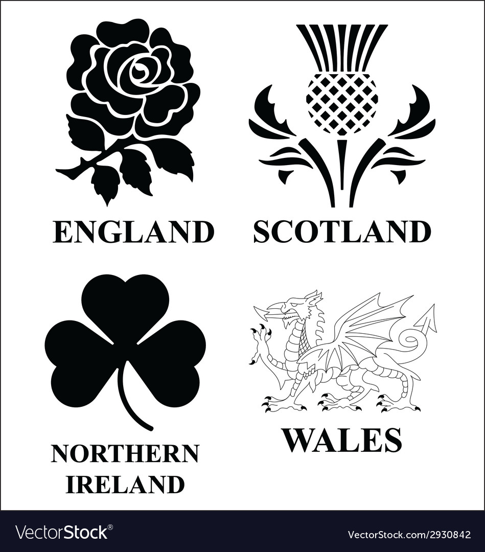 United kingdom emblems vector | Price: 1 Credit (USD $1)