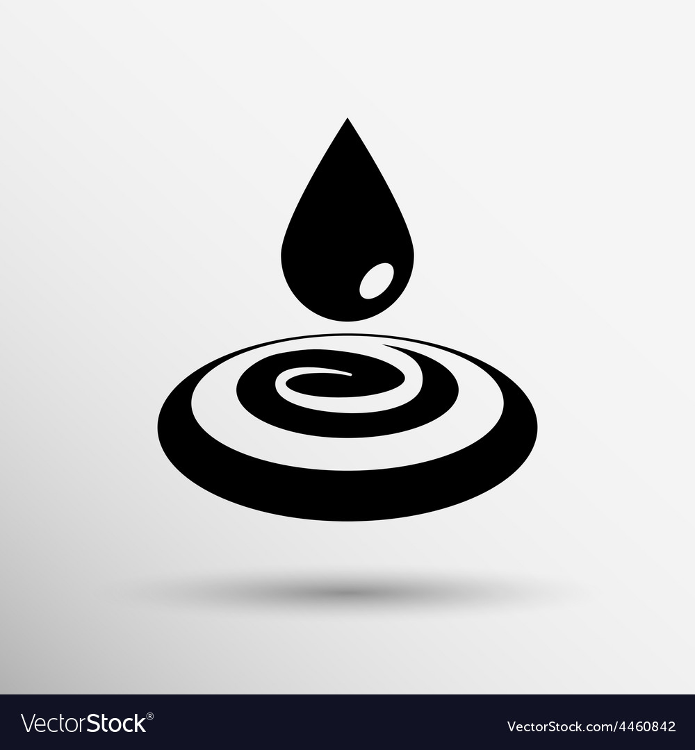 Water drop rain droplet icon fluid clean design vector | Price: 1 Credit (USD $1)