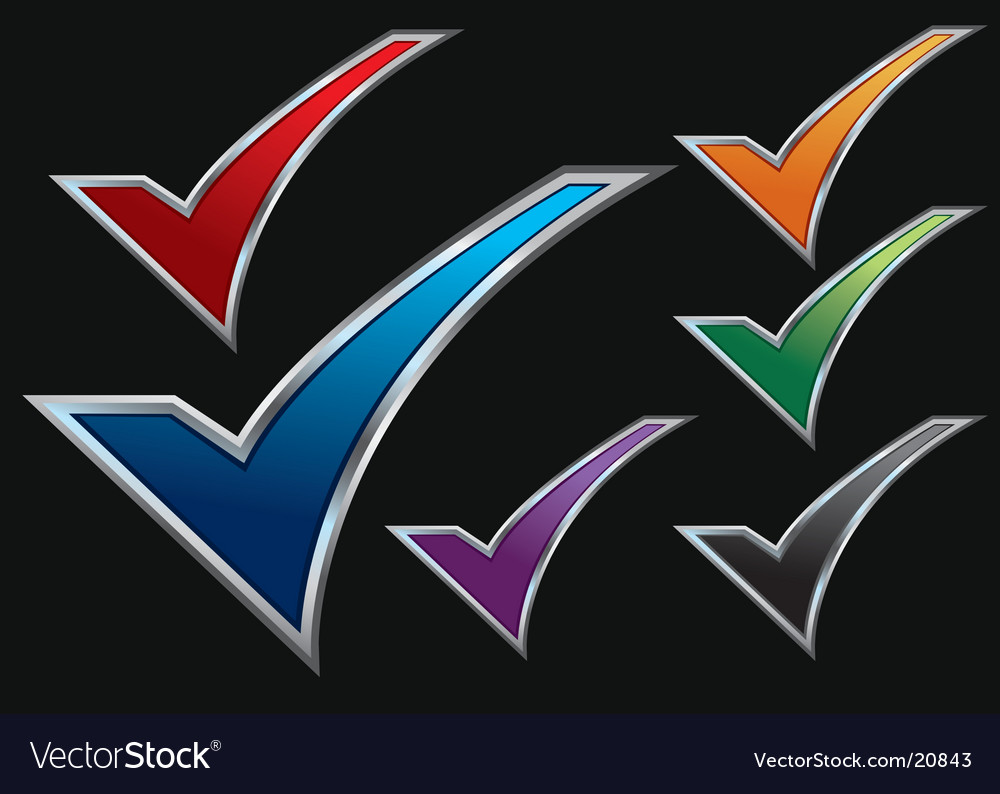 Assorted checkmarks vector | Price: 1 Credit (USD $1)