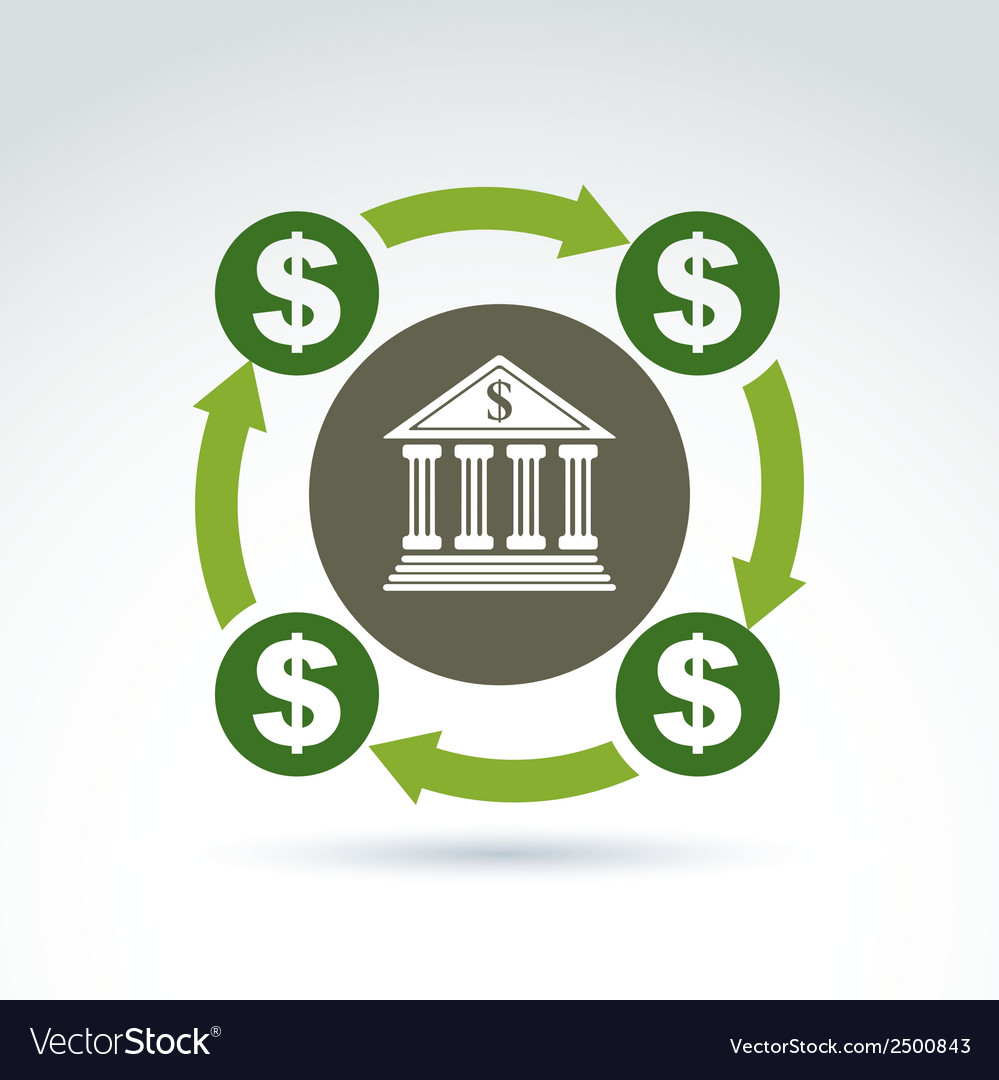 Banking symbol financial system icon circulation vector | Price: 1 Credit (USD $1)