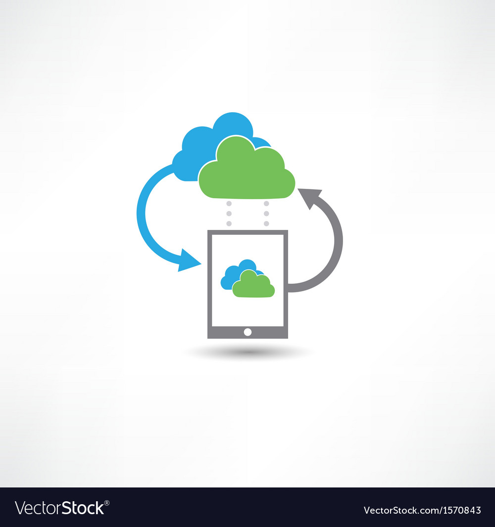 Cloud computing concept vector | Price: 1 Credit (USD $1)