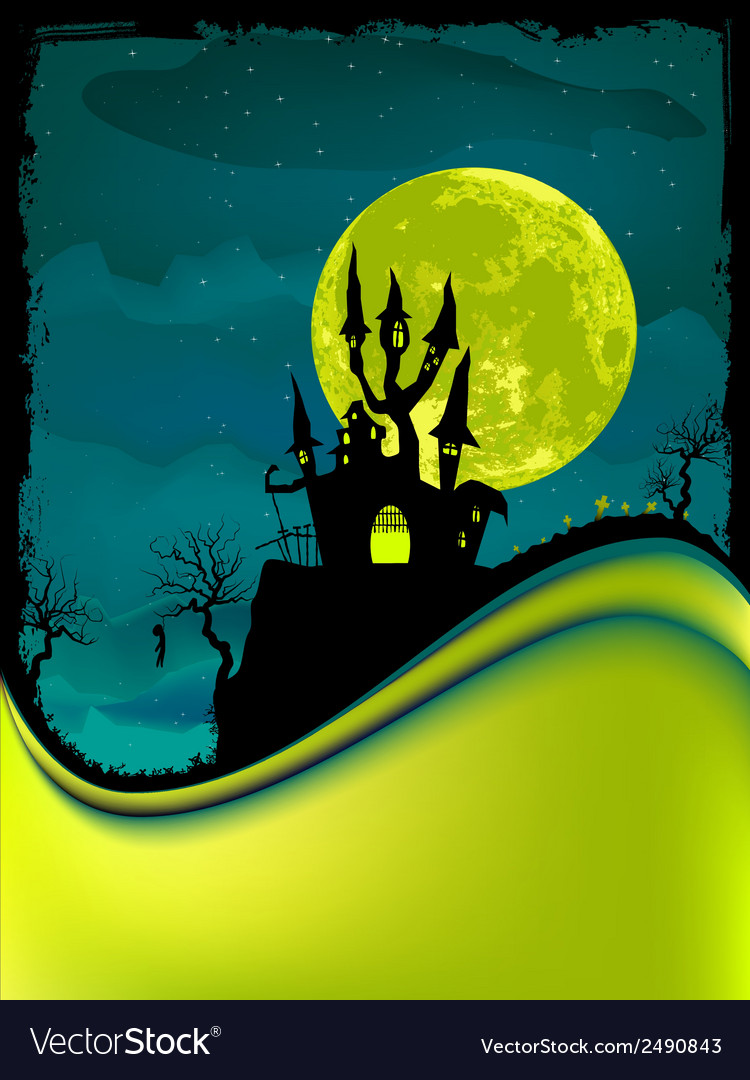 Dark scary halloween night eps 8 vector | Price: 1 Credit (USD $1)