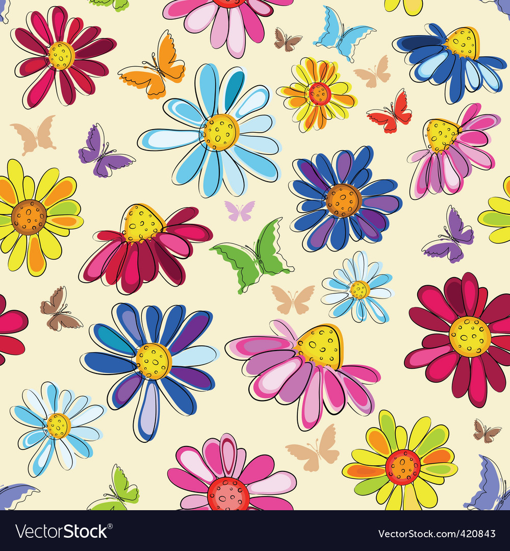 Effortless pink floral pattern vector | Price: 1 Credit (USD $1)