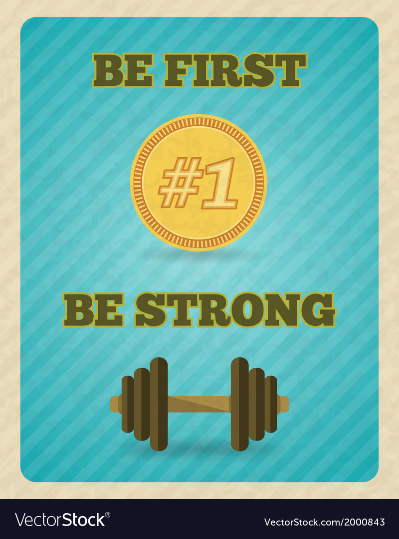 Fitness strength exercise motivation poster vector | Price: 1 Credit (USD $1)
