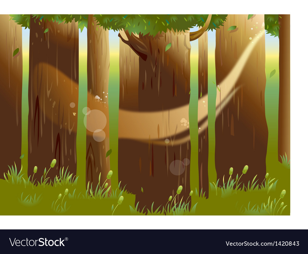 Forest woods background vector | Price: 1 Credit (USD $1)