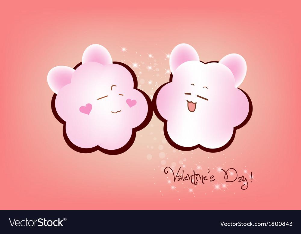 Happy valentine couple emotions vector | Price: 1 Credit (USD $1)