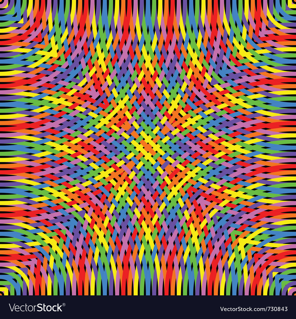 Knitted rainbow vector | Price: 1 Credit (USD $1)