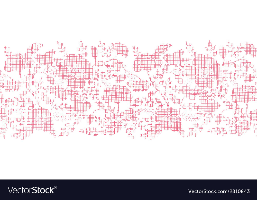 Pink textile birds and flowers horizontal border vector | Price: 1 Credit (USD $1)