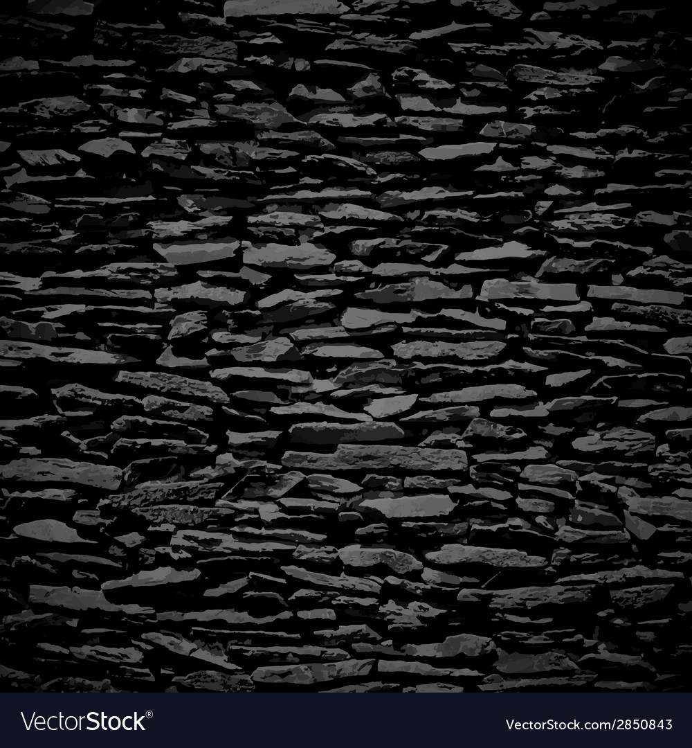 Stone wall black relief texture with shadow vector | Price: 1 Credit (USD $1)