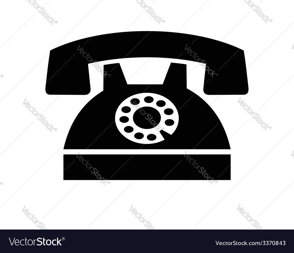 Telephone icon vector | Price: 1 Credit (USD $1)
