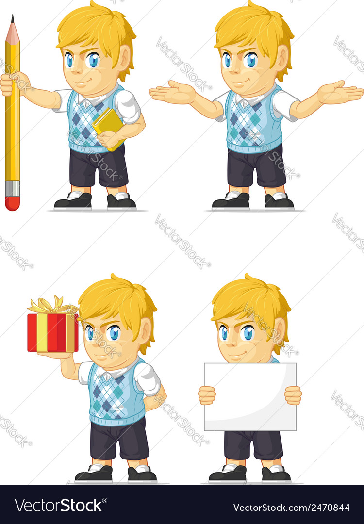 Blonde rich boy customizable mascot vector | Price: 1 Credit (USD $1)