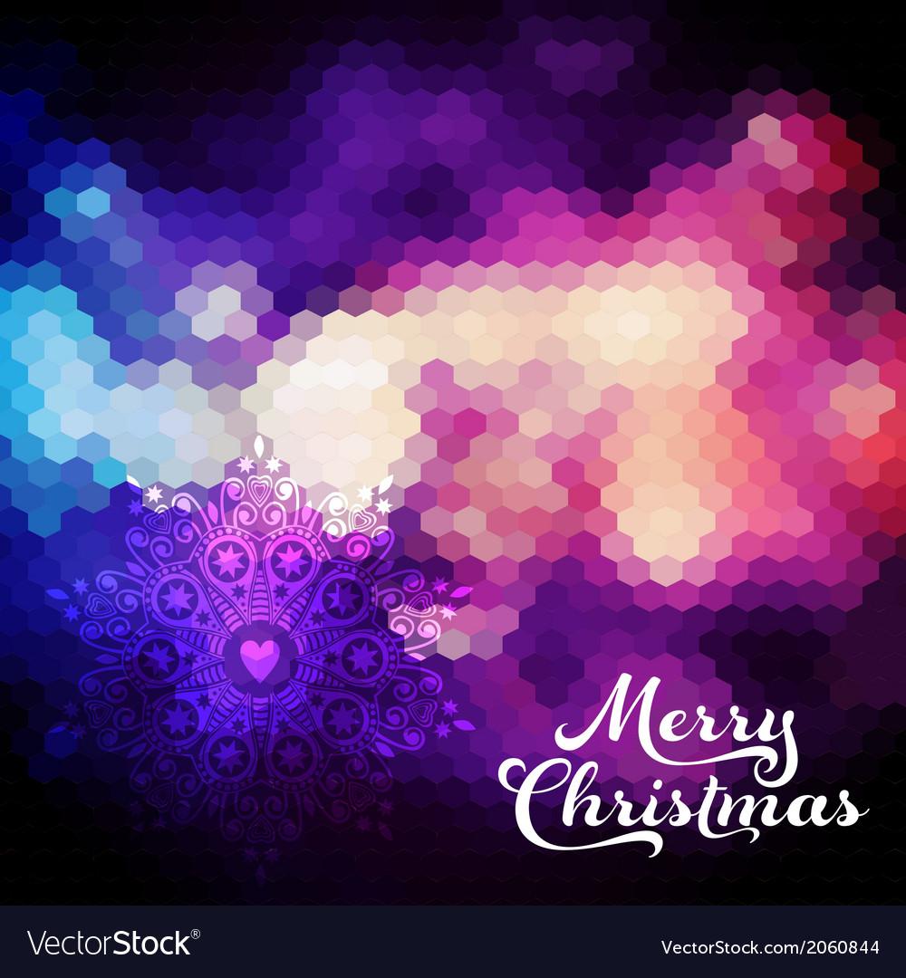 Christmas background christmas ball retro backdrop vector | Price: 1 Credit (USD $1)
