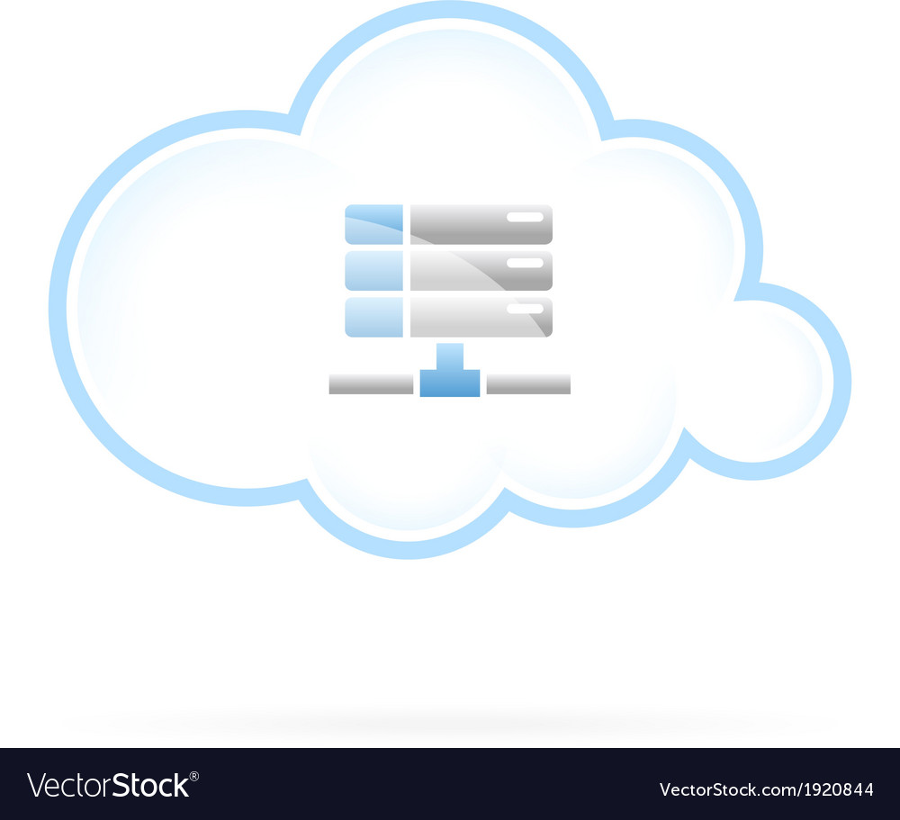 Cloud storage vector | Price: 1 Credit (USD $1)