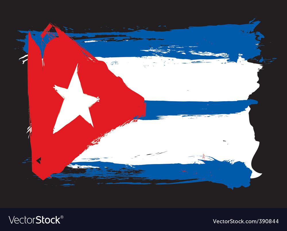 Cuba grunge flag vector | Price: 1 Credit (USD $1)
