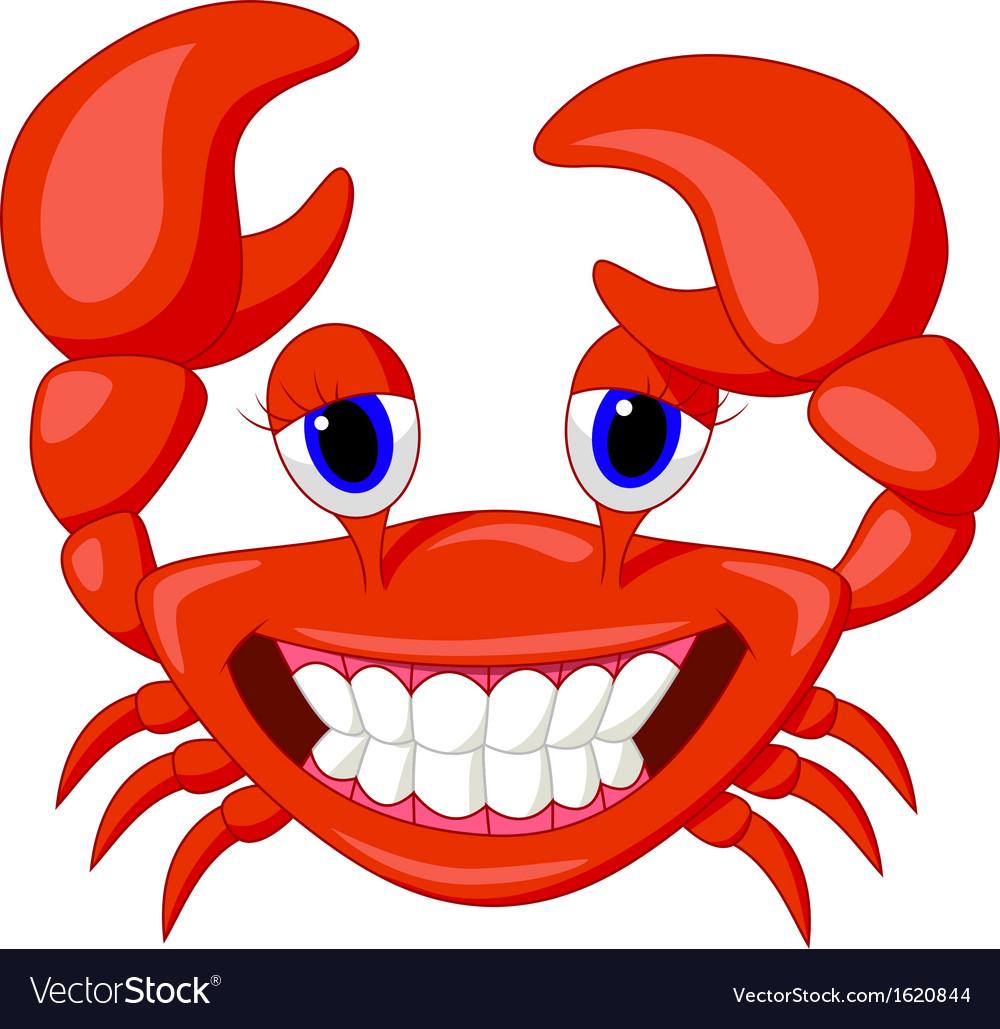 Cute crab cartoon vector | Price: 1 Credit (USD $1)