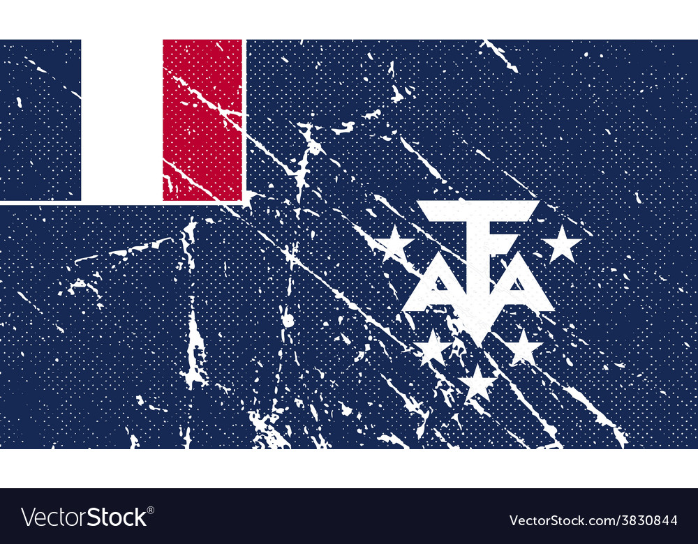 Flag of french southern and antarctic lands with vector   Price: 1 Credit (USD $1)