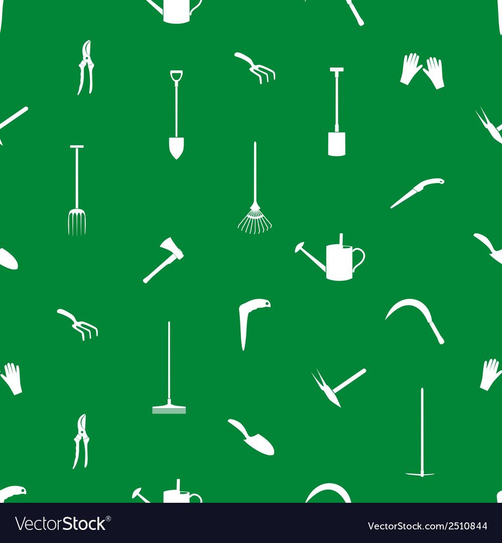 Gardening tools pattern eps10 vector | Price: 1 Credit (USD $1)