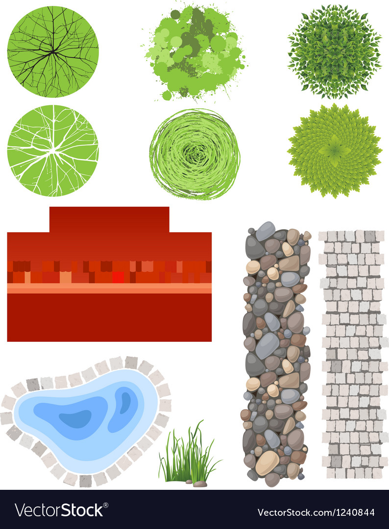 Landscape elements vector | Price: 1 Credit (USD $1)