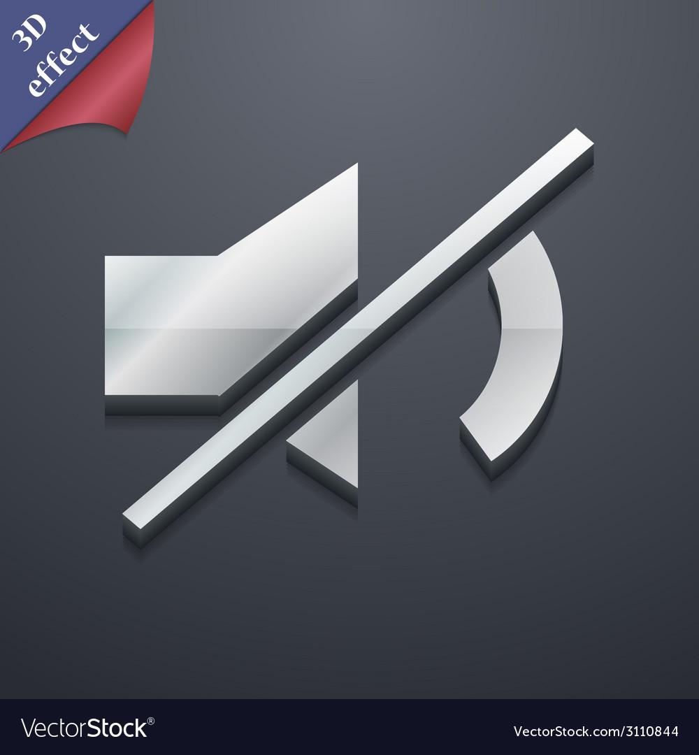 Mute speaker icon symbol 3d style trendy modern vector | Price: 1 Credit (USD $1)