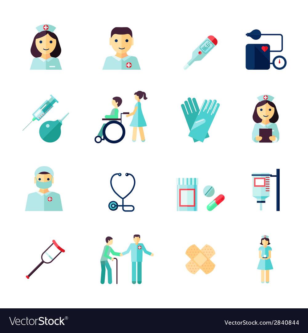 Nurse icon flat vector | Price: 1 Credit (USD $1)