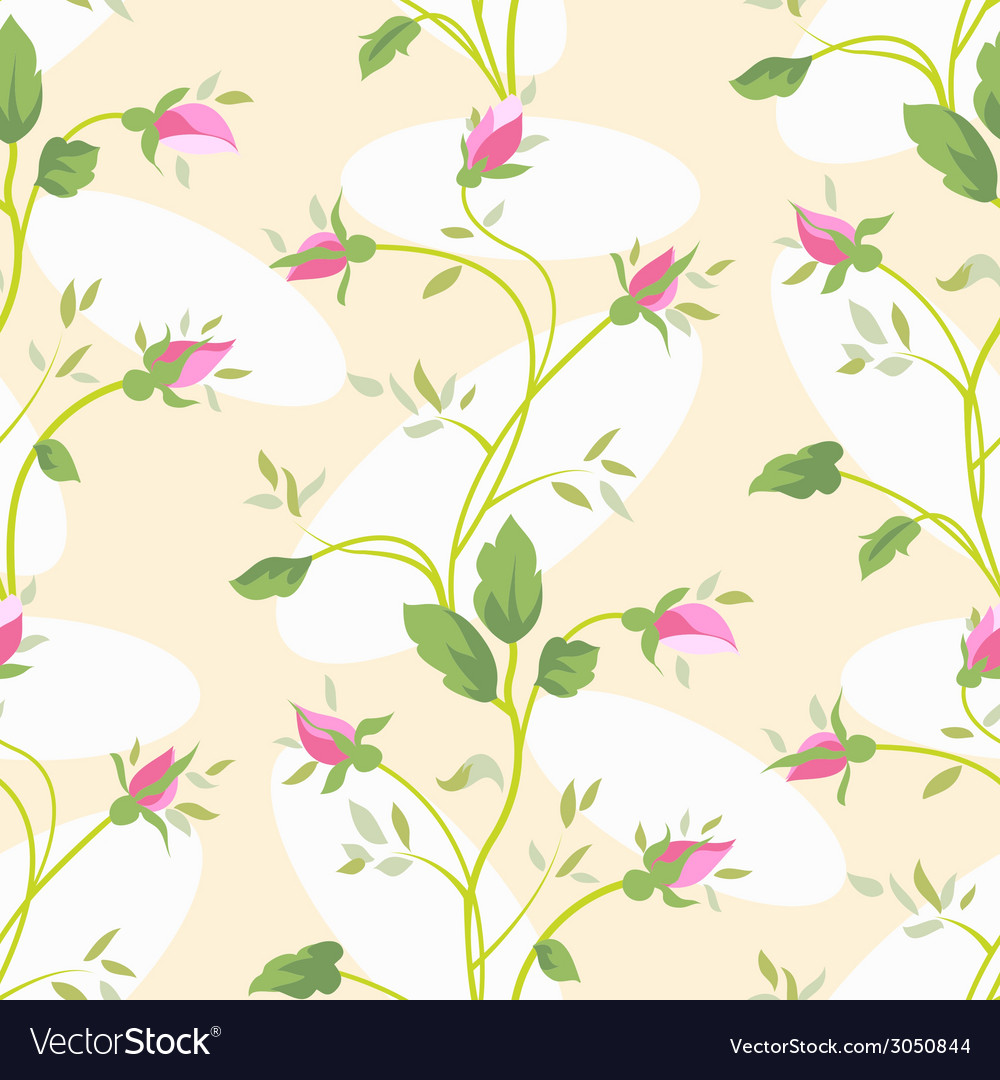 Seamless vintage flower rose pattern vector | Price: 1 Credit (USD $1)