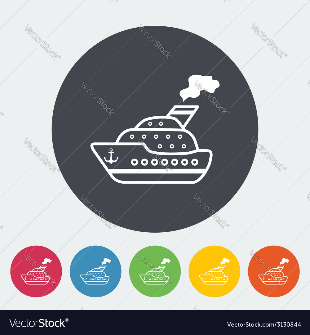Ship flat icon vector | Price: 1 Credit (USD $1)