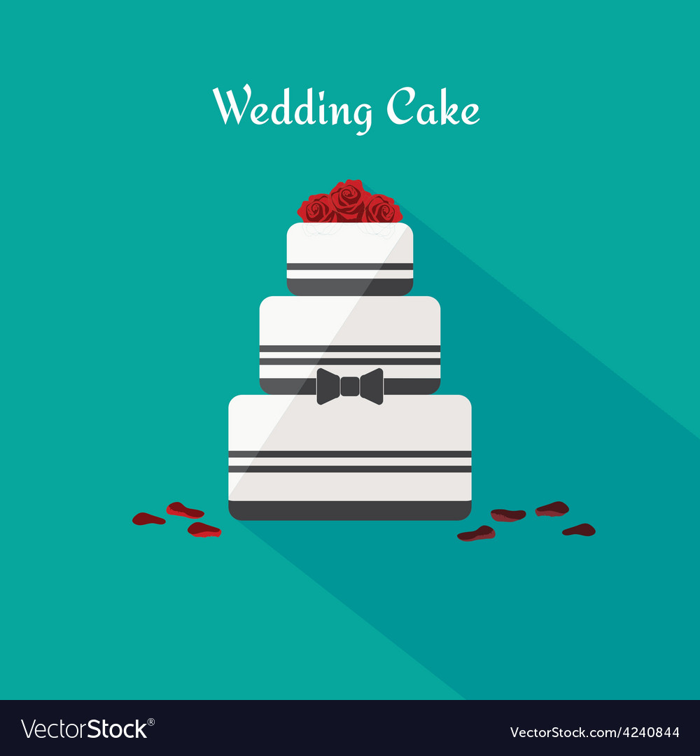 Wedding cake icon in the flat style vector | Price: 1 Credit (USD $1)