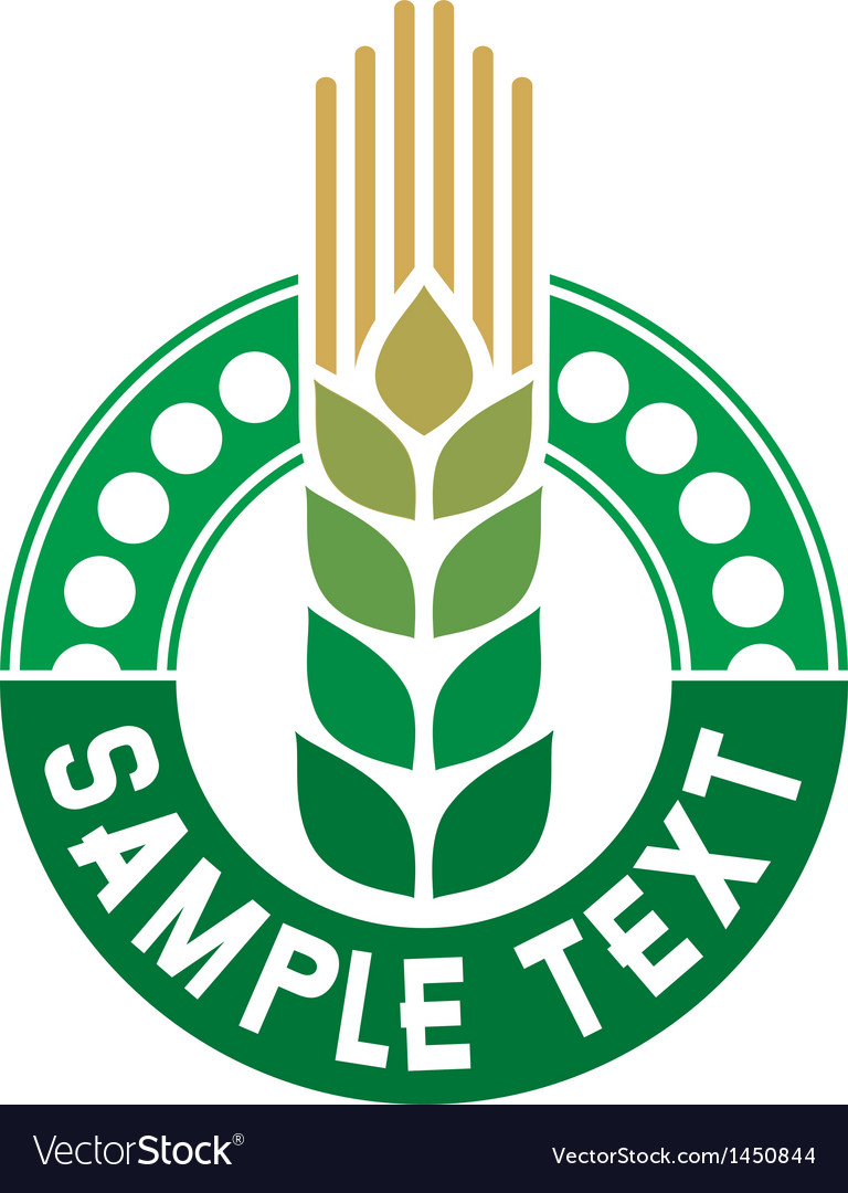 Wheat sign - badge vector | Price: 1 Credit (USD $1)