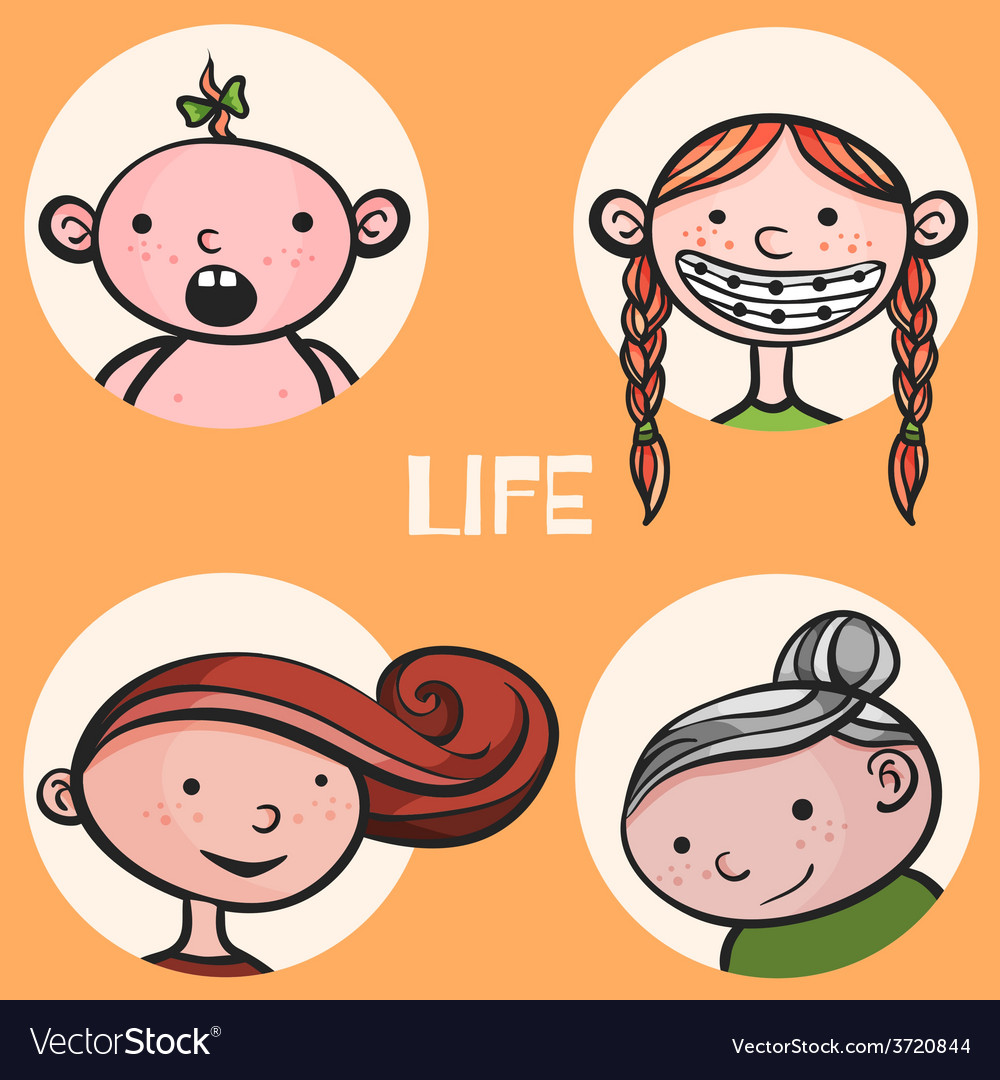Woman life cycle vector | Price: 1 Credit (USD $1)