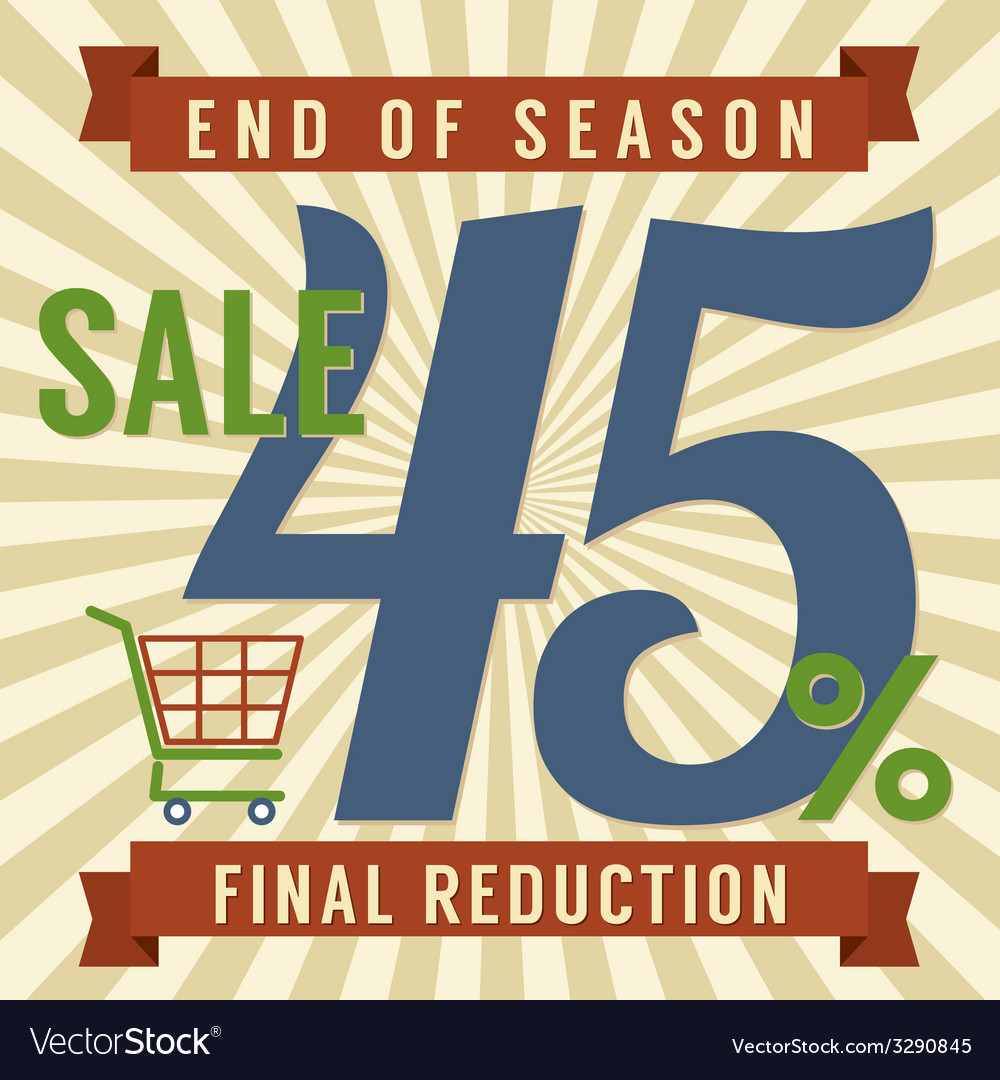 45 percent end of season sale vector | Price: 1 Credit (USD $1)