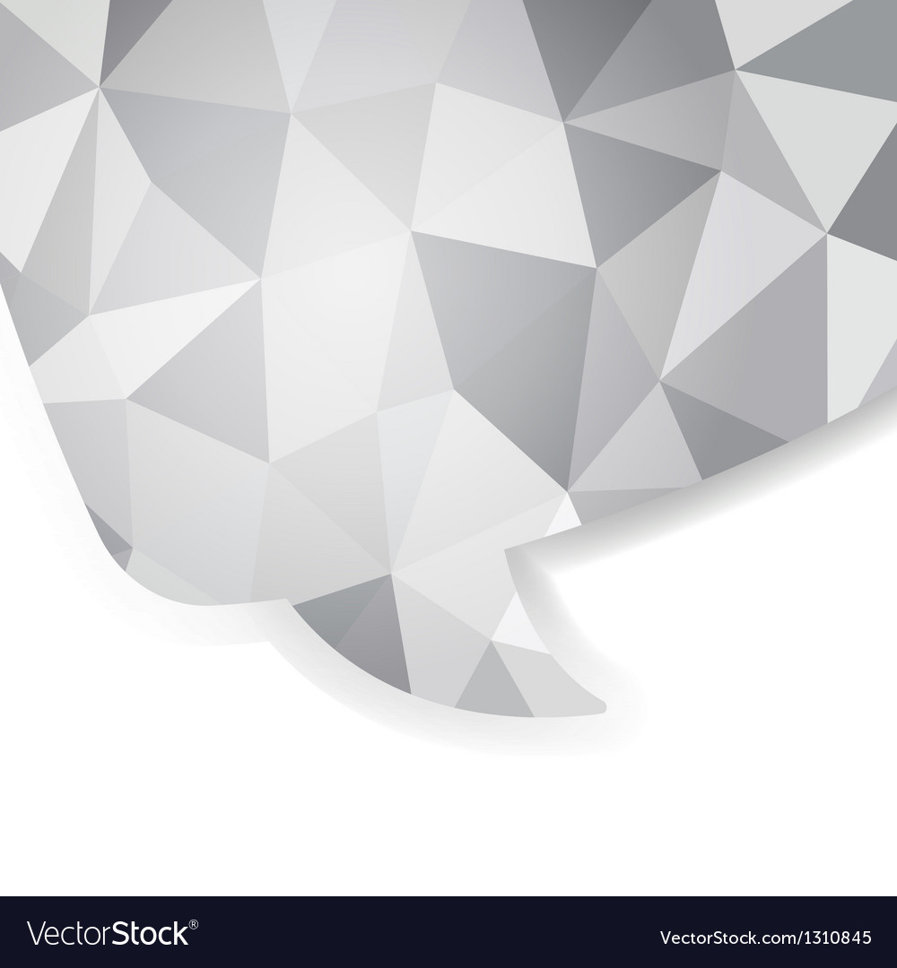 Abstract crystal speech bubble eps 10 vector | Price: 1 Credit (USD $1)
