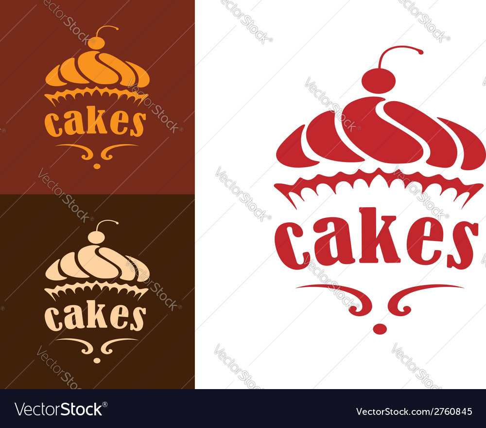 Cakes bakery emblem vector | Price: 1 Credit (USD $1)