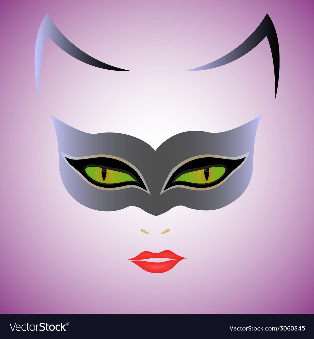 Cat woman mask vector | Price: 1 Credit (USD $1)