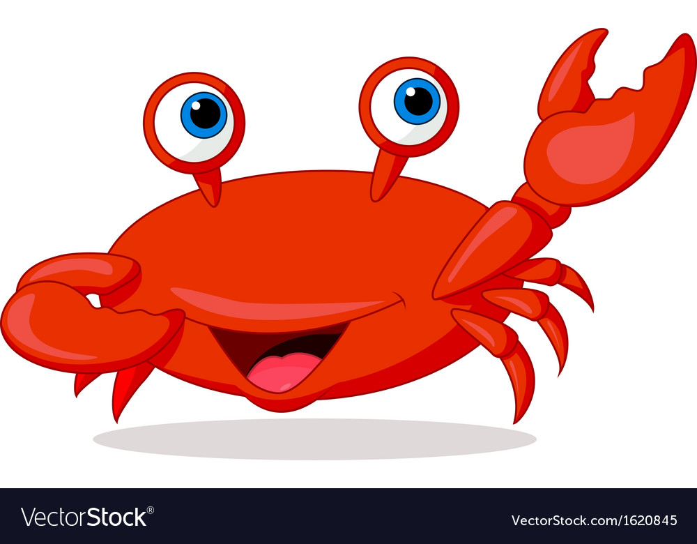 Cute crab cartoon vector | Price: 1 Credit (USD $1)